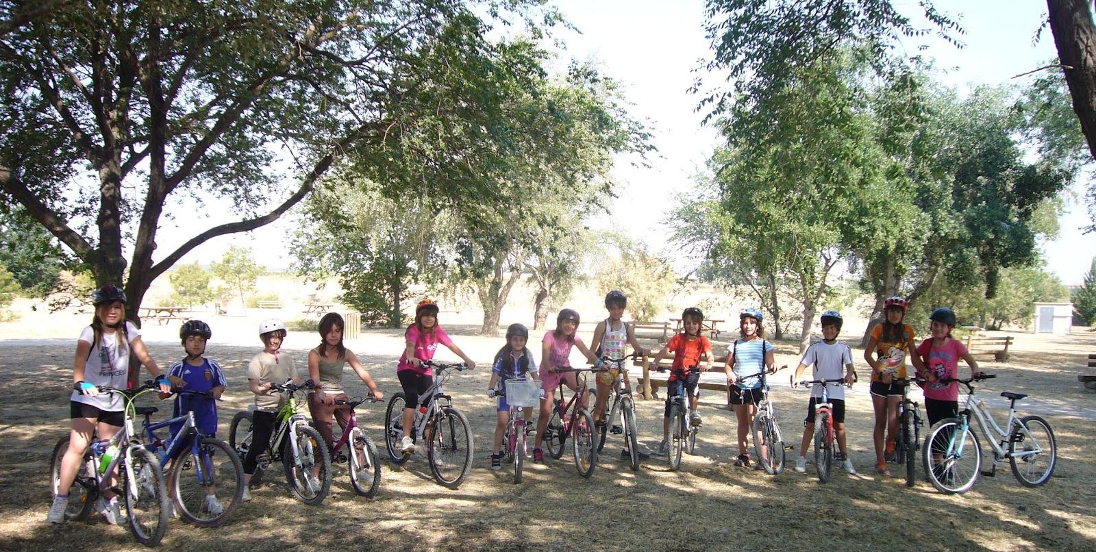 ruta en bicicleta con nenos EDUVIA